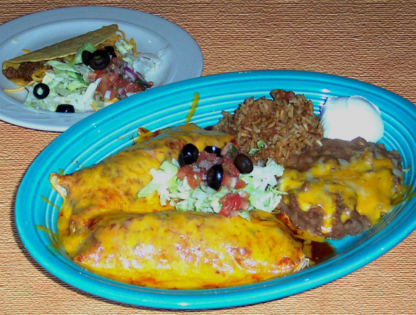 Mexican Food Combination #4 at Cintia's of Mexico Restaurant (CLOSED)