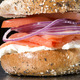 Miami Burger! Whole wheat ET bagel, nova lox, red onion, cream cheese, and tomato - Restaurant Menu at Georgetown Bagelry