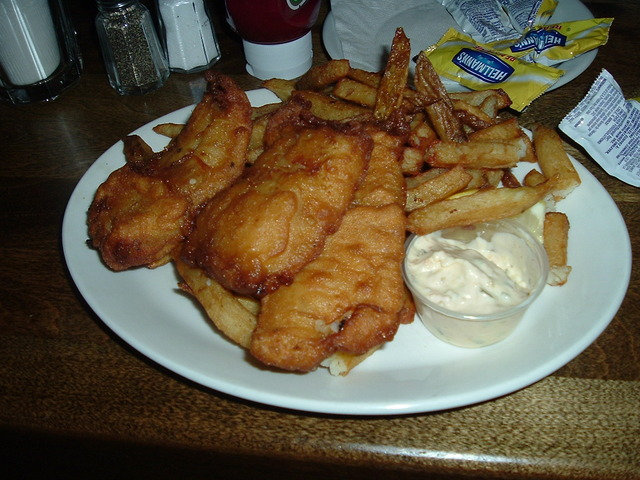 fish and chips at Ye Old Orchard Pub