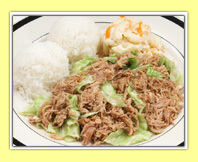 Kalua Pork at L & L Hawaiian Barbecue
