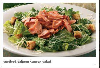 Smoked Salmon Caesar Salad at Famous Dave's