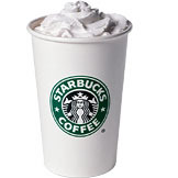 White Hot Chocolate at Starbucks Coffee