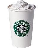 White Hot Chocolate at Starbucks Coffee