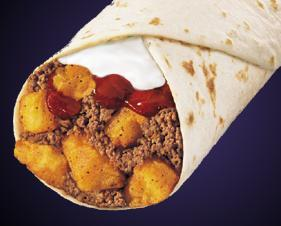 Photo of 1/2 LB. BEEF & POTATO BURRITO