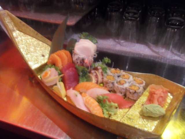 Served w. soup and salad - Sushi and Sashimi Entree at Shangerila Restaurant