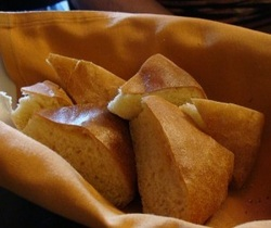 Azro bread at Azro Moroccan & Mediterranean Bistro