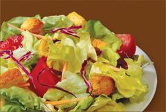 Garden Market Salad at Manhattan Bagel