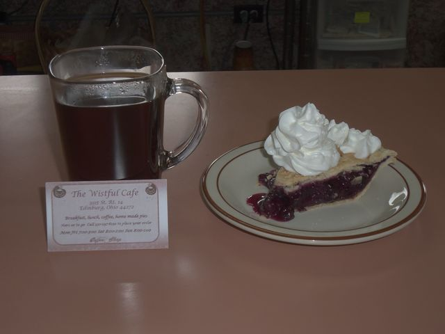 Slice of blueberry pie at Wistful Cafe & Bakery (CLOSED)