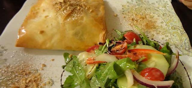 Chicken Bastilla at Azro Moroccan & Mediterranean Bistro