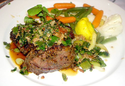 Petite Filet Pepper Steak at Dal Rae