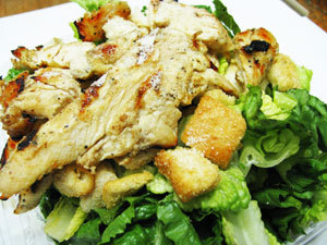 salad with grilled chicken at Needham House of Pizza