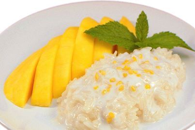 Mango w/ sticky rice at SaiMai Thai Restaurant