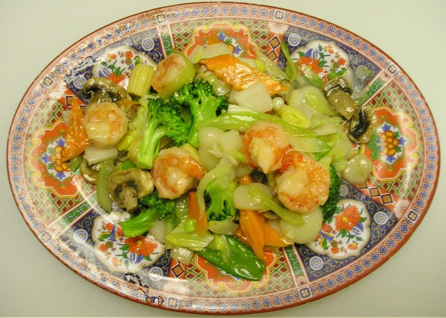 Shrimp with Assorted Vegetables at China Light