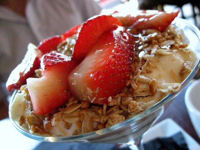 A popular Brunch Item...YUM! - Yogurt Parfait at Teavolve Cafe & Lounge
