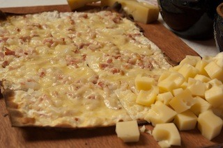 Photo of la tarte flambee Gratinee gruyere