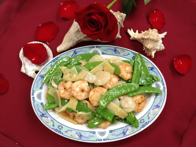 Shrimp with Snow Peas at Mandarin Garden