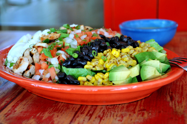 Mexican Cobb at Caliente Kitchen