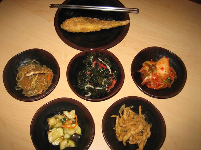 Side dishes at Doobu