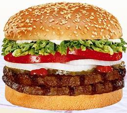 DOUBLE WHOPPER® at Taxi's Hamburgers