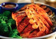 Maui Luau Shrimp and Salmon at Red Lobster