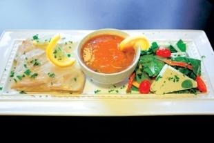 Salmon at Azro Moroccan & Mediterranean Bistro