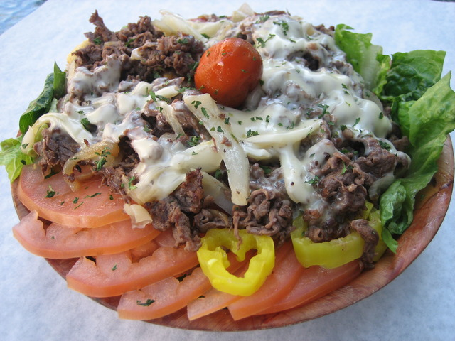 Cheesesteak Salad at Jake's Steaks