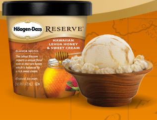 Hawaiian lehua honey & sweet cream ice cream at Haagen-Dazs