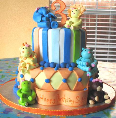 Zoo Animal Cake at Butterfly Sweets