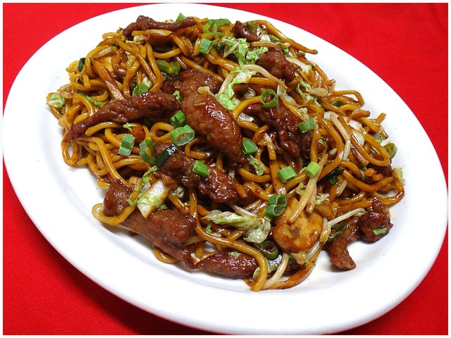 Beef Lo Mein at Kum Fong Restaurant