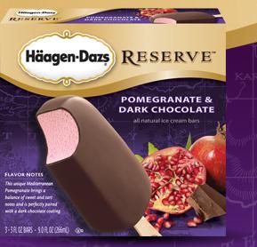 Pomegranate & Dark chocolate bar at Haagen-Dazs