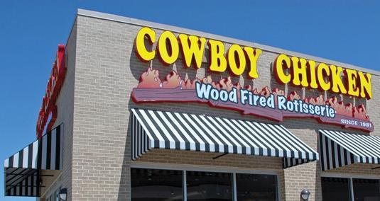 Exterior at Cowboy Chicken Wood Fried Rotisserie