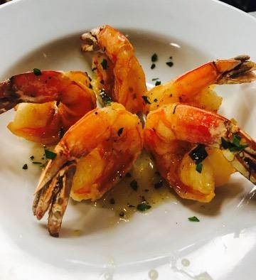 Lemon Basil Shrimp at The French 75