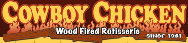 Logo at Cowboy Chicken Wood Fried Rotisserie