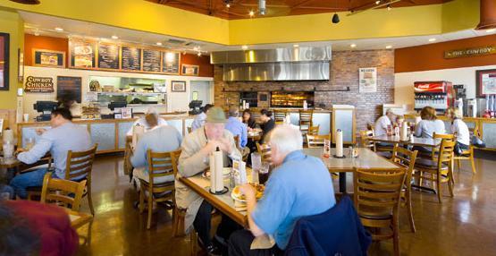 Interior at Cowboy Chicken Wood Fried Rotisserie