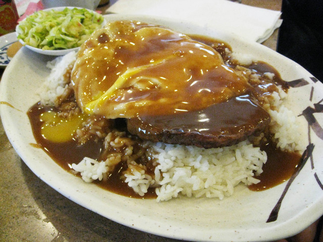Loco Moco at Gardena Bowl Coffee Shop