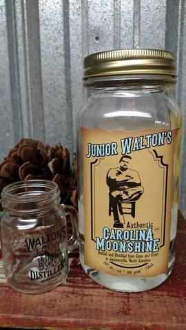 Limited sales on site. - Junior Walton's Authentic Carolina Moonshine at Walton's Distillery