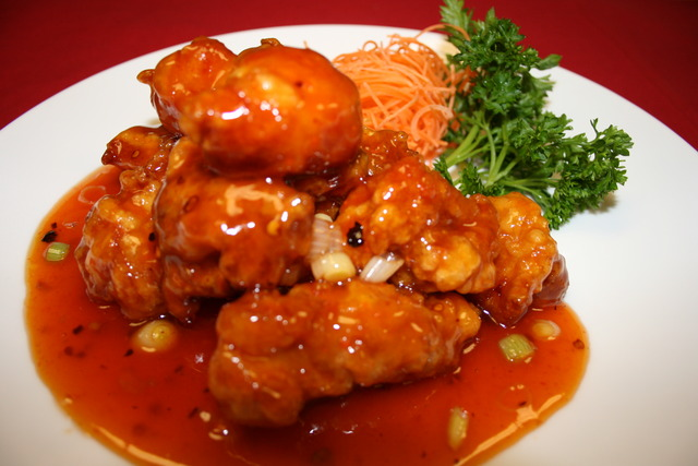 The ever popular General Gau's Chicken - General Gau's Chicken at Blue Orchid
