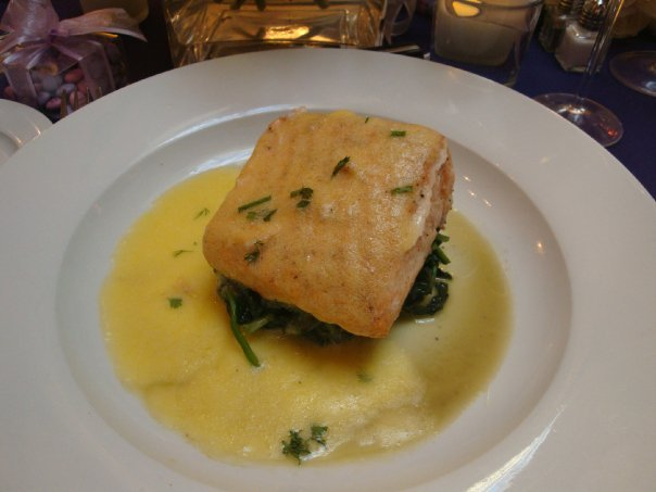 Panroasted Salmon at Bistro Rollin