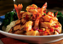 Honey BBQ Shrimp and Chicken at Red Lobster