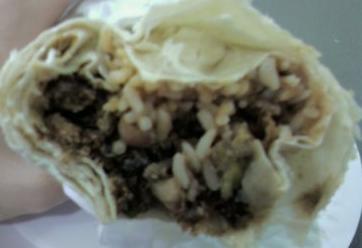 Carne Asada Burrito at columbia restaurant