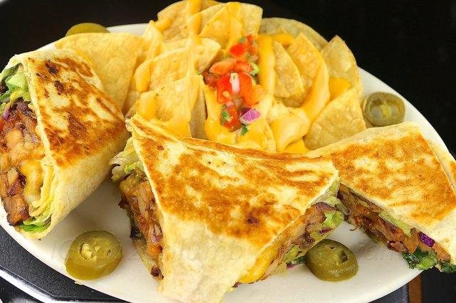 Viva Chicken Burrito at columbia restaurant