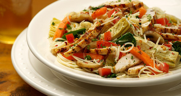 Chicken Primavera at Carino's Italian Grill