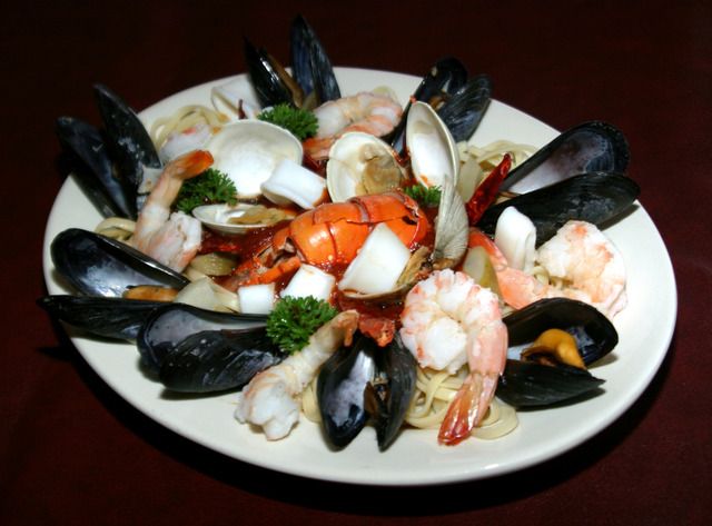 Seafood Fra Diavolo at The Old Time Vincent's Seafood & Italian Restaurant