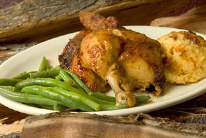 ROTISSERIE CHICKEN ONLY at Cowboy Chicken Wood Fried Rotisserie