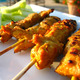 B.B.Q. chicken skewers served with peanut sauce & cucumber sauce - Chicken Satay at Five Star Thai Cuisine