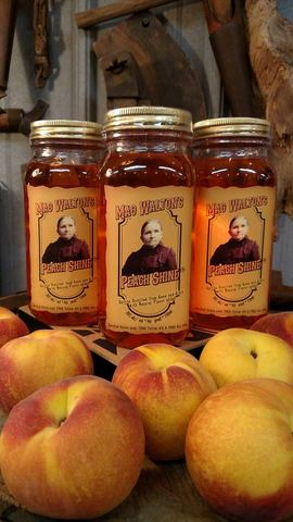 Limited sales on site. - Mag Walton's Peach Shine at Walton's Distillery