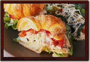 Chicken Salade Croissant at la Madeleine
