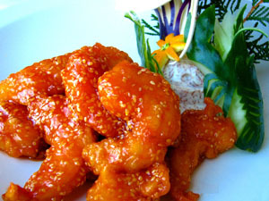 Sesame Shrimp at China Sky