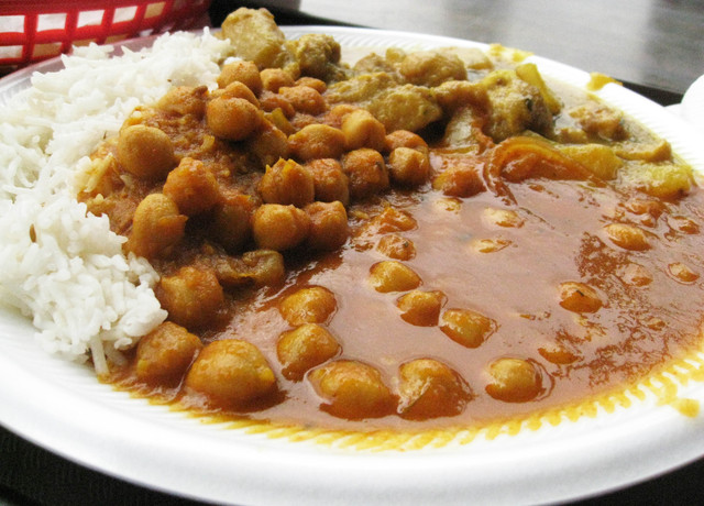 Garbanzo Curry at Taste of India