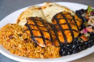 VAQUERO CHICKEN PLATTER at Cowboy Chicken Wood Fried Rotisserie